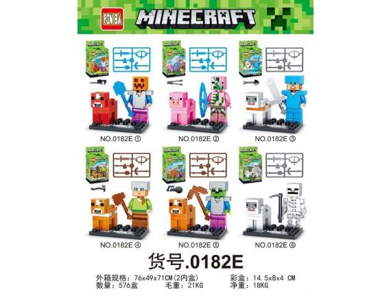 Конструктор 6 в 1 PIN BA Minecraft 12шт 0182E