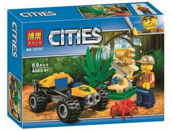 Конструктор BELLA Cities «Багги для поездок по джунглям» 10707 - подобрать в ИГРАЙ-ОПТ - магазин игрушек по оптовым ценам. igrai-opt.ru