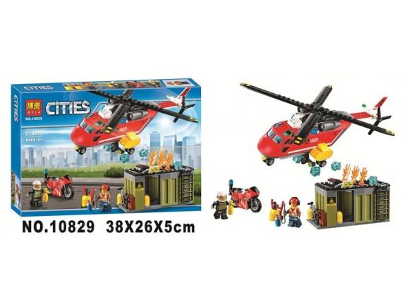 Конструктор BELA Cities Пожарная команда 10829 - приобрести в ИГРАЙ-ОПТ - магазин игрушек по оптовым ценам