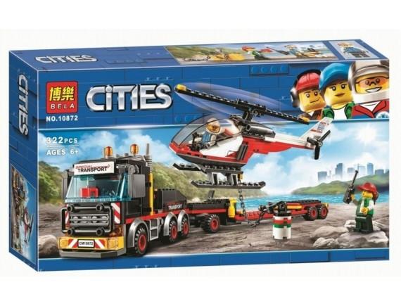 Конструктор BELA Cities Перевозчик вертолета 10872
