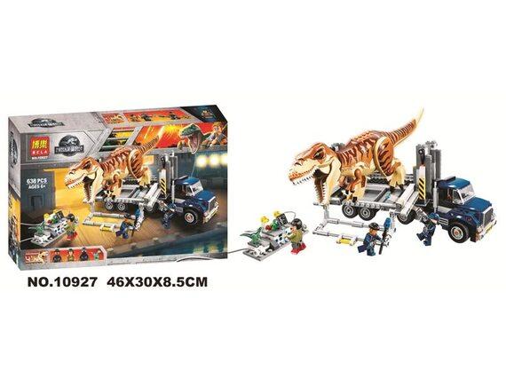 Конструктор BELA Dinosaur World Транспорт для перевозки Ти-Рекса 10927