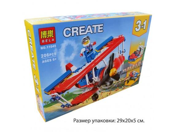 Конструктор 3in1 Bela CREATE Самолёт 11045 - приобрести в ИГРАЙ-ОПТ - магазин игрушек по оптовым ценам