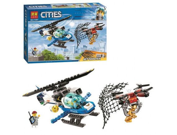 Конструктор LARI City Воздушная полиция: погоня дронов 11207