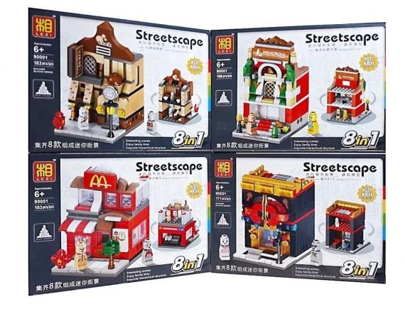 Конструктор LEZI Streetscape 90001 - приобрести в ИГРАЙ-ОПТ - магазин игрушек по оптовым ценам