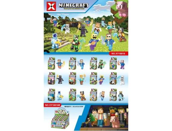 Конструктор 12 в 1 Minecraft 12шт XY18016