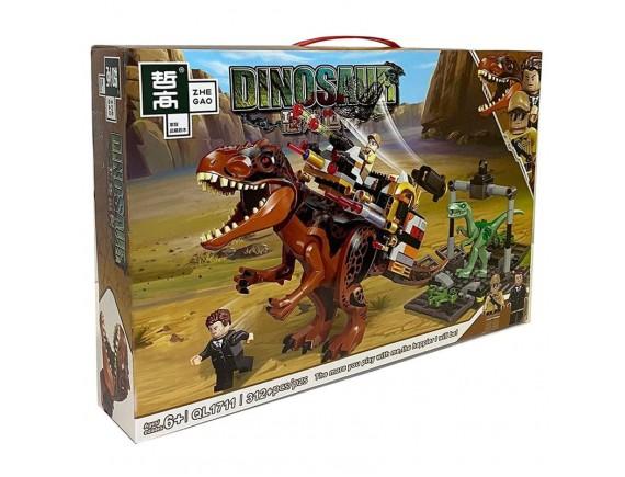 Конструктор ZHE GAO Dinosaur Атака на динозавре ql1711