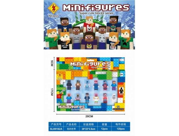 Конструктор набор минифигурок SLtoys Майнкрафт sl89182A