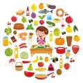 Посуда, продукты