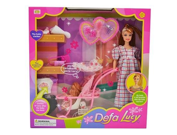 Беременная кукла-мама с младенцем  Defa Lucy 8049
