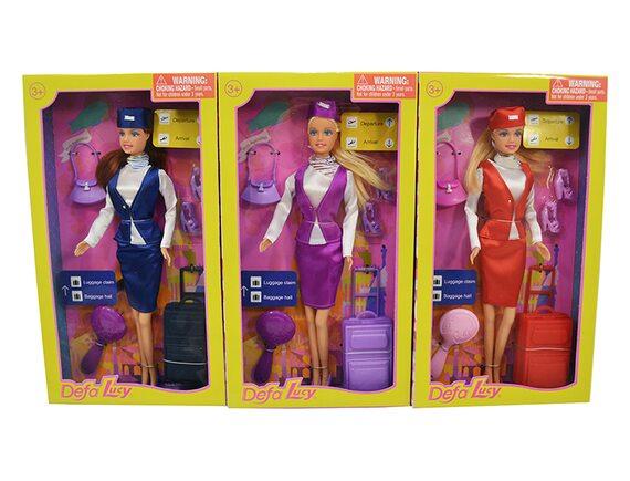 Кукла Defa Lucy - Стюардесса с аксессуарами (три вида) 8286