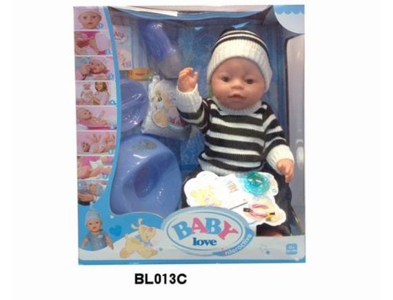 Пупс с закрывающимися глазками в коробке BL013C
