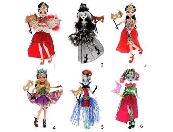 Кукла Монстер Хай Карнавал шарнирная 6 видов DH2060