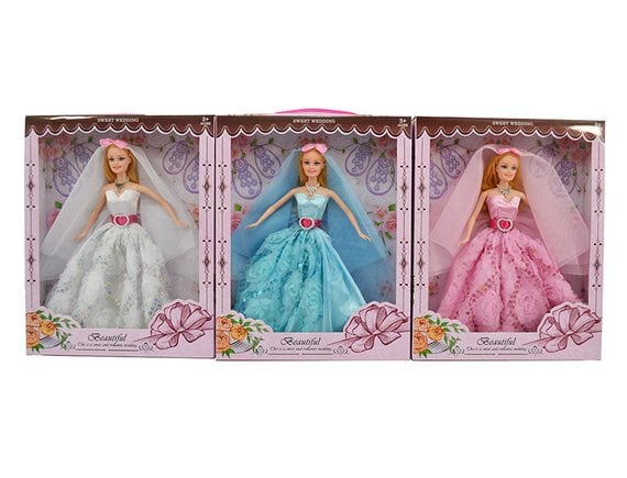 Кукла в роскошном платье (3 вида) F215E