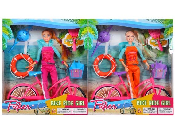 Кукла на велосипеде JX100-67B