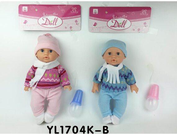 Кукла пупс с закрывающимися глазками  YL1704K-B
