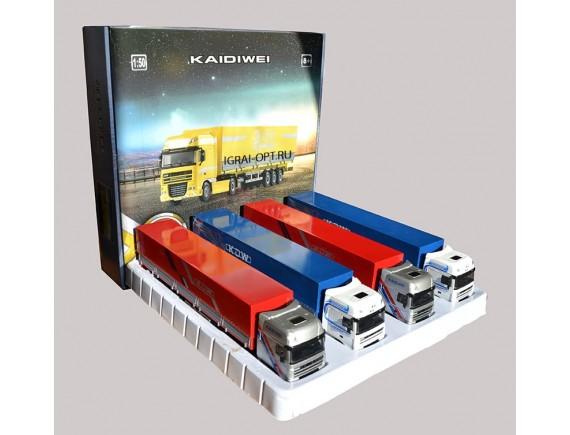 KDW машинка контейнеровоз ФУРА в металле 620044