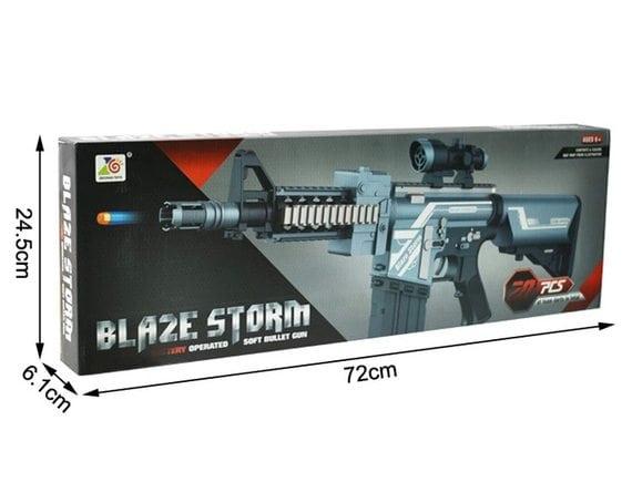 Автомат BLAZE STORM с мягкими пулями 7078