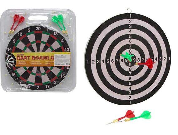 Спортивный набор Дартс 30см с острыми стрелами 100000809