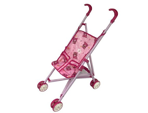 Кукольная коляска расцветка с медвежонком 100142870