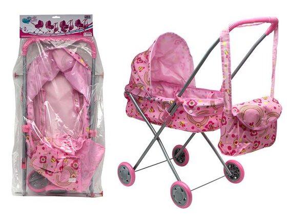 Кукольная прогулочная коляска с сумкой 100142877