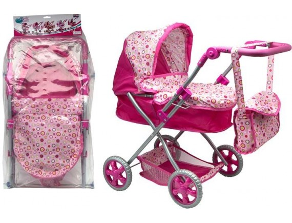 Прогулочная коляска для пупса с сумкой на ручке 100565410