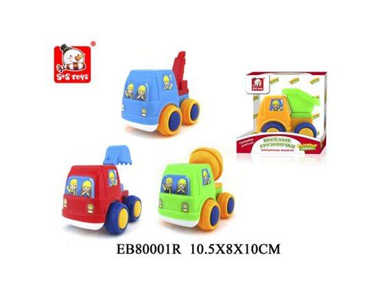 Машинка для малышей Веселые Грузовички S+S Toys Строительная техника 100597082