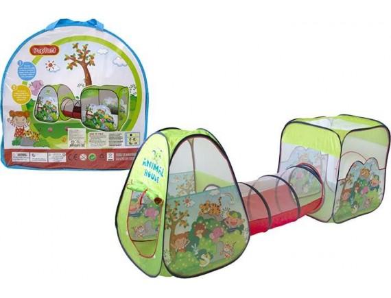 Детская палатка Animal Houle с тоннелем в пакете 100790978