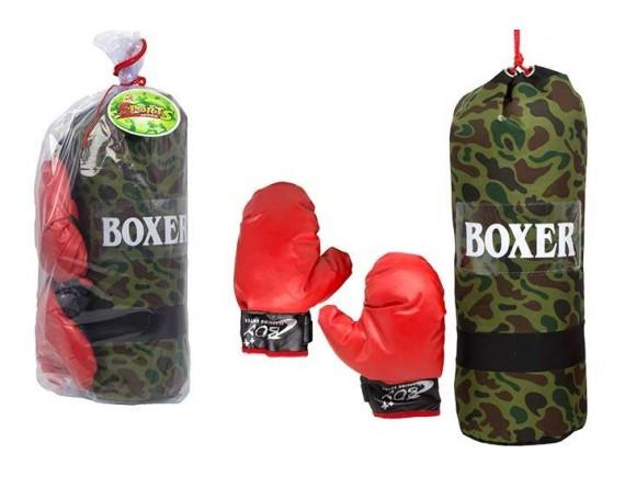 Спортивный набор для бокса 45см с грушей и перчатками 100880652