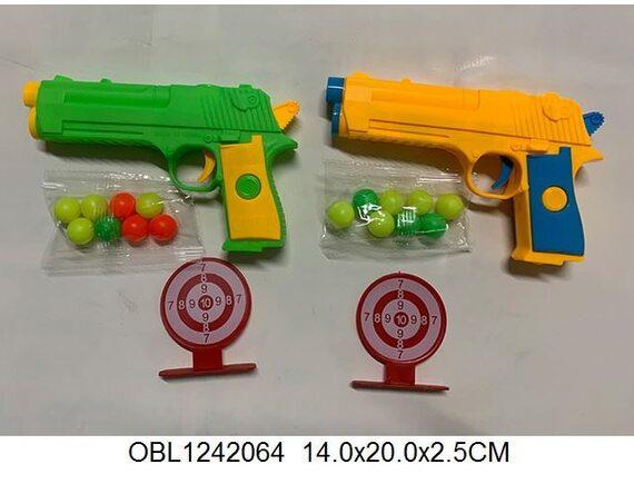 Игрушечный пистолет с шарами и мишенями в пакете 130722