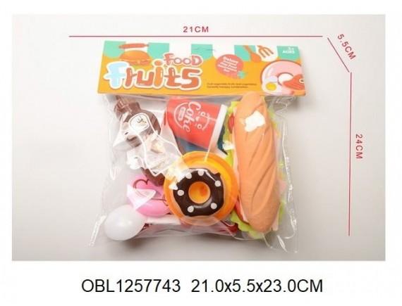 Игровой набор фастфуда Food Fruits в пакете 132160