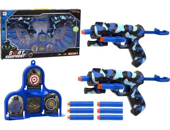 Детское оружие SWAT с мягкими пулями и мишенью 200070480