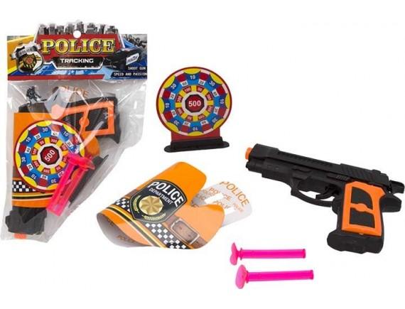 Детский пистолет Police с пулями на присосках 200102767