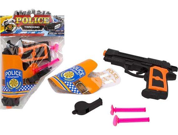 Механический пистолет Police с пулями на присосках 200102770