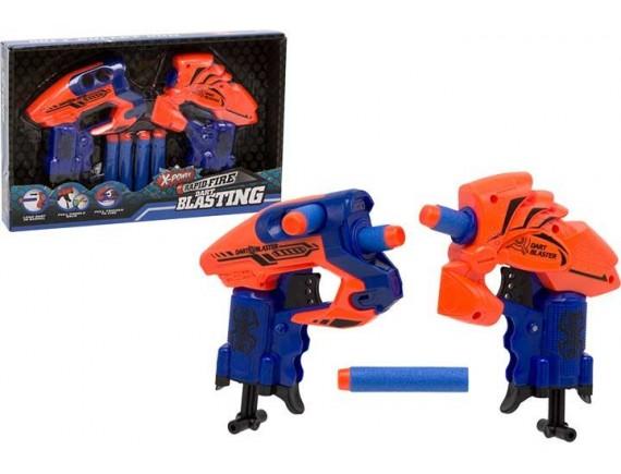Набор из двух бластеров Dart Blaster с мягкими пулями 200159053