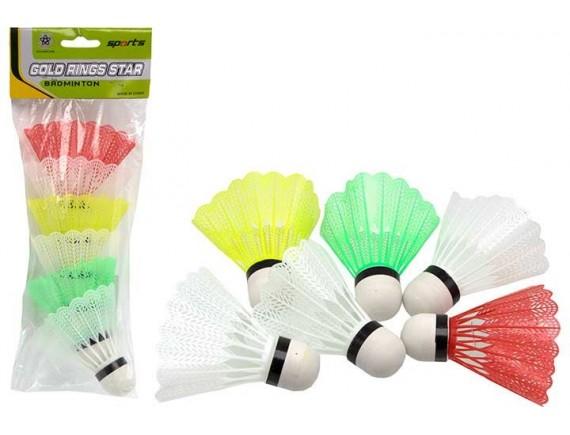 Набор разноцветных воланчиков для бадминтона 200176594