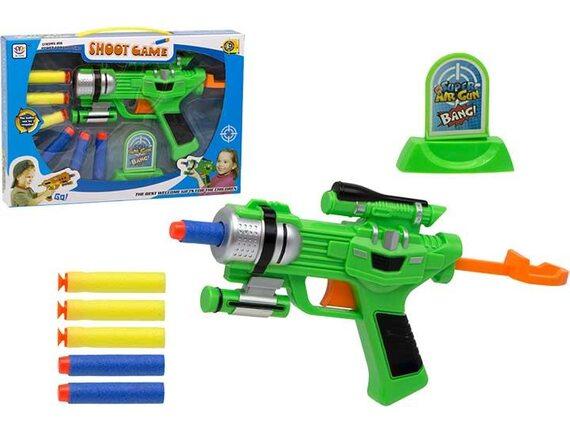 Детское оружие Shoot Game с мягкими пулями и мишенью 200209742