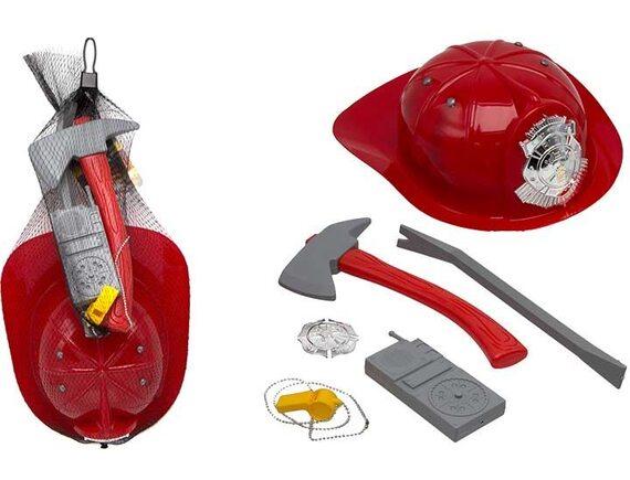 Игровой набор Пожарная служба с каской в сетке 200250762
