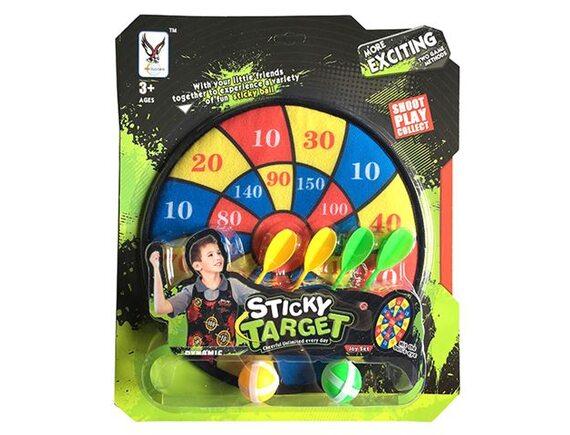 Набор для игры в Дартс  Sticky Target с дротиками, шариками и мишенью 200314485 - приобрести в ИГРАЙ-ОПТ - магазин игрушек по оптовым ценам