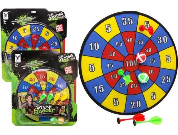 Набор для игры в Дартс  Sticky Target с дротиками, шариками и мишенью 200314485
