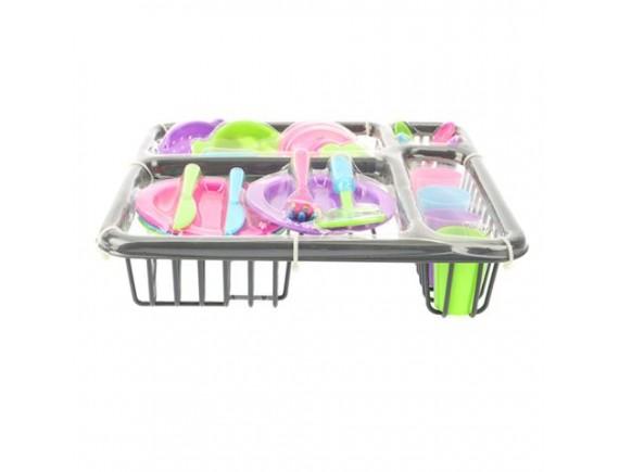 Детский набор сушилка с посудой в коробке 200335773