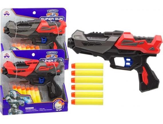 Игрушка Пистолет с мягкими пулями 21см 200369926