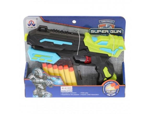 Игрушка Пистолет с мягкими пулями 21см 200369930 - приобрести в ИГРАЙ-ОПТ - магазин игрушек по оптовым ценам