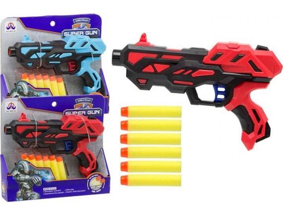 Игрушка Пистолет с мягкими пулями 21см 200369935