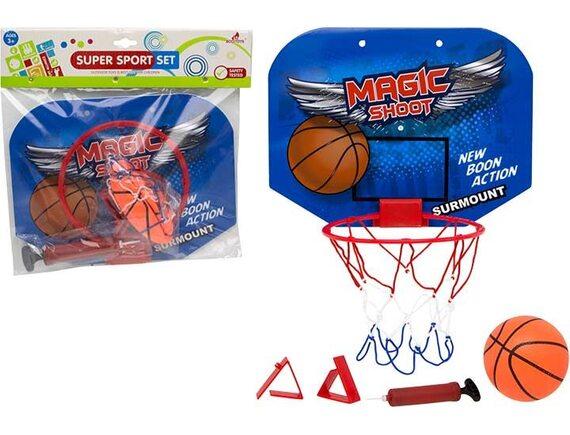 Комплект для баскетбола со щитом, корзиной, мячом и насосом 200449825