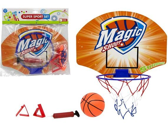 Комплект для баскетбола мяч, насос, корзина, щит 200449826