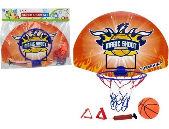 Баскетбольный комплект со щитом, корзиной и мячом 200449829