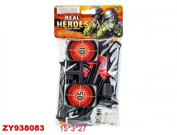 Военный игровой набор Real Heroes с пистолетом на присосках 200457712