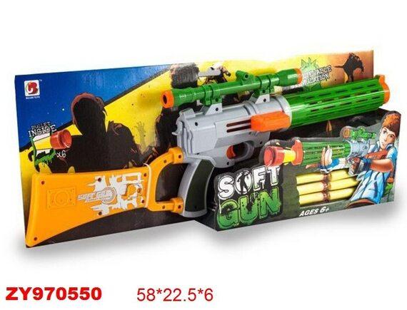 Детское ружье с прицелом и мягкими пулями 200470343