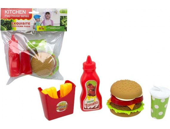 Игровой набор Гамбургер в пакете 200504324 - приобрести в ИГРАЙ-ОПТ - магазин игрушек по оптовым ценам