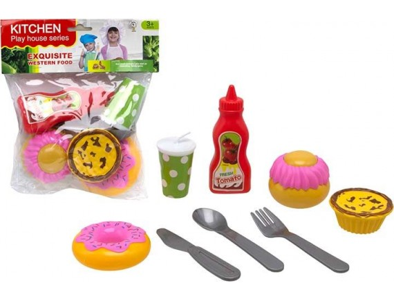 Игровой набор продуктов Kitchen Западная еда 200504330